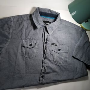 Boys Hurley large button down short sleeve